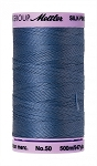 METTLER SILK FINISH 50 WT COTTON, 500M,  SMOKEY BLUE