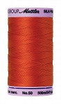 METTLER SILK FINISH 50 WT COTTON, 500M,  PAPRIKA
