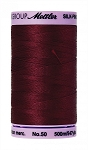 METTLER SILK FINISH 50 WT COTTON, 500M,  CRANBERRY