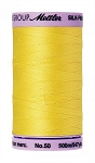 METTLER SILK FINISH 50 WT COTTON, 500M,  LEMON ZEST