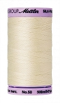 METTLER SILK FINISH 50 WT COTTON, 500M,  ANTIQUE WHITE