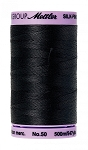 METTLER SILK FINISH 50 WT COTTON, 500M,  BLACK