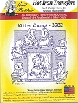 Aunt Martha's Iron On Transfers,KITTEN CHORES