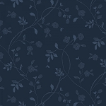 ENGLISH COUNTRYSIDE, NAVY TONAL VINE,BY MAYWOOD