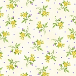 EMMA'S GARDEN, CREAM LITTLE FLOWERS ,BY MAYWOOD