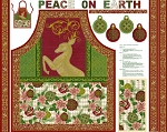 PEACE ON EARTH APRON PANEL, BY RO GREGG