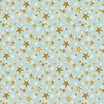 FRIENDLY GATHERING TEAL STARS, BY WILMINGTON