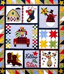 FOLLOW THE STAR ,QUILT PATTERN, BOBG DESIGNS