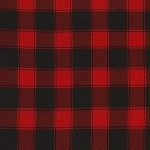 CHRISTMAS CABIN,RED PLAID   BY TIMELESS TREASURES