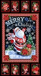 NORTH POLE MERRY CHRISTMAS SANTA PANEL,BY TIMELESS TREASURES