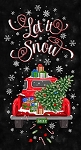 LET IT SNOW CHRISTMAS TRUCK PANEL, BY TIMELESS TREASURES
