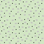 MEOW AND FOREVER, DOTS GREEN , BY RILEY BLAKE DESIGNS