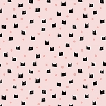 MEOW AND FOREVER,DOTS PINK  , BY RILEY BLAKE DESIGNS