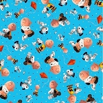 PEANUTS CHARLY AND SNOOPY, BY QUILTING TREASURES