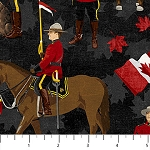 CANADIAN CLASSIC ,BLACK   MOUNTIES, BY NORTHCOTT