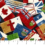 CANADIAN CLASSIC , PROVINCIAL FLAGS , BY NORTHCOTT