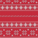 SWEATER WEATHER FLANNEL,RED SNOWFLAKE STRIPE, BY HENRY GLASS