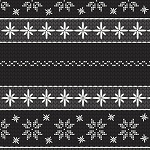 SWEATER WEATHER FLANNEL,BLACK SNOWFLAKE STRIPE, BY HENRY GLASS