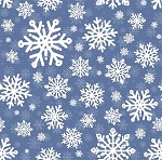 SWEATER WEATHER FLANNEL,BLUE SNOWFLAKES, BY HENRY GLASS