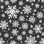 SWEATER WEATHER FLANNEL,BLACK SNOWFLAKES, BY HENRY GLASS
