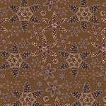 RUSTIC CHARM FLANNEL, BROWN PINECONE SNOWFLAKES ,BY HENRY GLASS
