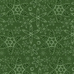 RUSTIC CHARM FLANNEL,GREEN PINECONE SNOWFLAKES,BY HENRY GLASS