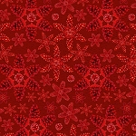 RUSTIC CHARM FLANNEL,RED PINECONE SNOWFLAKES ,BY HENRY GLASS