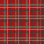 RUSTIC CHARM FLANNEL,RED PLAID ,BY HENRY GLASS