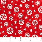BELOW ZERO, FLANNEL ,LARGE RED SNOWFLAKES BY NORTHCOTT