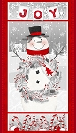 FROSTY FRIENDS, SNOWMAN PANEL FLANNEL, BY HENRY GLASS