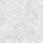 FROSTY FRIENDS, GREY SNOWFLAKES FLANNEL, BY HENRY GLASS