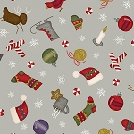 MOST WONDERFUL TIME FLANNEL WINTER MOTIFS ,BY MAYWOOD STUDIO