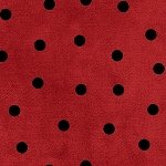 MOST WONDERFUL TIME FLANNEL, RED/BLACK BIG DOT  ,BY MAYWOOD STUDIO