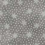 MOST WONDERFUL TIME FLANNEL, GREY FALLING SNOW ,BY MAYWOOD STUDIO