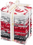 HOLIDAY FLOURISH 10, SCARLET FAT QUARTER BUNDLE