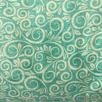 108'' Wide GREEN SWIRL Flannel from AE Nathan CO