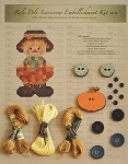 ROLY POLY SCARECROW EMBELLISHMENT KITS ,HAPPY HOLLOW DESIGNS