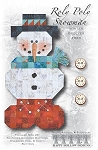 ROLY POLY SNOWMAN, WINTER GREETER,HAPPY HOLLOW DESIGNS