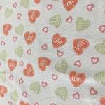 BABY LOVE  CORAL FLANNEL, TOSSED HEARTS