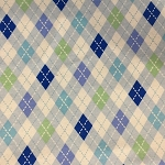 BABY LOVE  BLUE FLANNEL, ARGYLE
