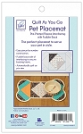 QUILT AS YOU GO ,PET PLACEMAT DOG