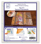 QUILT AS YOU GO, VENICE PLACEMATS ,BY JUNE TAILOR INC
