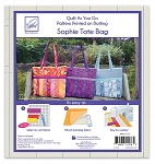 QUILT AS YOU GO, SOPHIE TOTE BAG ,BY JUNE TAILOR INC