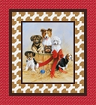 PUPPIES QUILT KIT , BY RILEY BLAKE DESIGNS