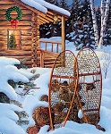 CHRISTMAS MEMORIES,EVENING SOLITUDE PANEL , BY RILEY BLAKE DESIGNS