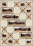 WHEN PUSH COMES TO SHOVE, BISON AT THE BORDER LAP QUILT KIT
