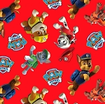 RED PAW PATROL TOSS ,BY DAVID TEXTILES