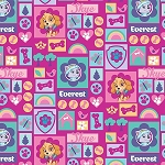 Pink / Multi paw patrol Skye& Everest, by david textiles