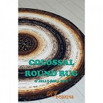 COLOSSAL ROUND  RUG PATTERN ,BY R.J. DESIGNS