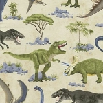 DINOSAURS, BY TIMELESS TREASURES